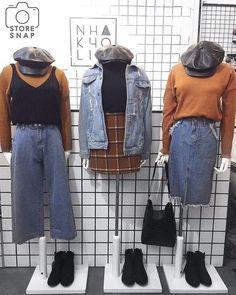 ♡ pinterest // sadwhore ♡ Korea Fashion, 70s Fashion, Cute Fashion, Asian Fashion, Modest Fashion, Look Fashion, Winter Fashion, Vintage Fashion, Fashion Outfits