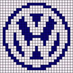 Alpha Friendship Bracelet Pattern #10579 added by yeag75. Volkswagen, logo, german, car, vw.