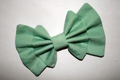 Fresh Mint Double Bow    http://sincerelymaeko.storenvy.com
