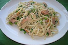 Linguine with Smoked Trout and Peas