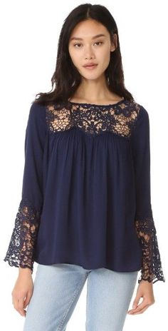 BB Dakota Geraldine Lace Blouse | 15% off first app purchase with code: 15FORYOU