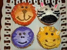 Jungle Animal Cupcakes!