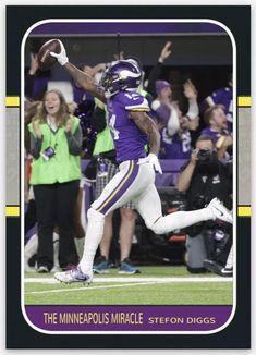 """ae0ed773ecd 2018 Minnesota Vikings """"The Minneapolis Miracle"""" Football Card Minnesota Hat"""