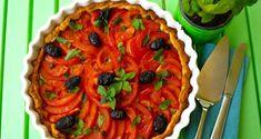 τάρτα με ντομάτες και βασιλικό στο καλοκαίρι - Pandespani.com
