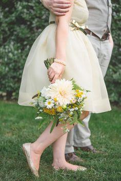short silk tea stained wedding dress from bhldn
