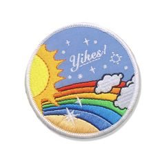 Express your love of awkward situations with this retro inspired rainbow lovin' Wide, Embroidered Iron-On Patch Cute Patches, Pin And Patches, Sew On Patches, Iron On Patches, Patches For Jeans, Jacket Pins, Doja Cat, Embroidery Patches, Mo S