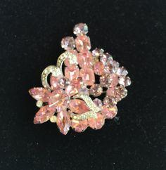 Eisenberg Brooch CrystalsLavender and Pink by CobwebsVintage #teamlove #vintage #jewelry
