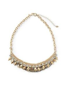 Tinley Road Rhinestone Mixed Chain Necklace | Piperlime