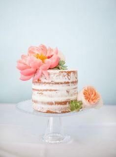 Coral Wedding Cakes, Succulent Wedding Cakes, Wedding Sweets, Wedding Cakes With Flowers, Cake Wedding, Gorgeous Cakes, Pretty Cakes, Nake Cake, Bolos Naked Cake