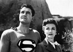 TIL George Reeves the Superman of the insisted Phyllis Coates (Lois Lane) be given equal billing. Superman And Lois Lane, First Superman, Death Of Superman, Adventures Of Superman, Real Superman, Superman Actors, Superman Photos, Superman Movies, Superman Stuff