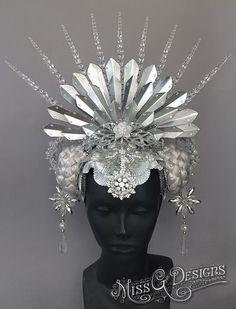 Ice Queen Headdress Crown by Miss G Designs   etsy.com/shop/MissGDesignsShop