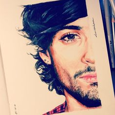 Drawing of Zayn. Niall Horan, Zayn Mallik, Zayn Malik Pics, One Direction Fan Art, One Direction Drawings, Zayn Malik Drawing, Sleeping Drawing, Guy Drawing, Amazing Drawings