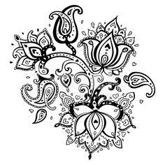 Hand Drawn Paisley ornament. royalty-free stock vector art