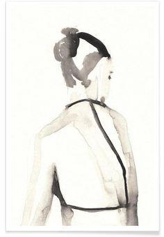 MISS VAGABOND als Premium Poster von Victoria Verbaan | JUNIQE
