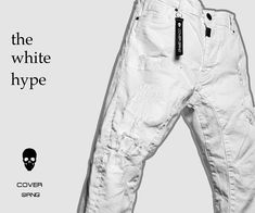 White distressed jeans, keeps you cool and fresh