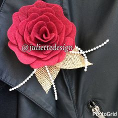 Felt Brooche, Felt Flowers Brooche, Wedding Gift, Felt Pin, Accesories, Bridal Shower, by juliettesdesigntr on Etsy https://www.etsy.com/listing/507127514/felt-brooche-felt-flowers-brooche