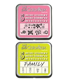 Loving this Boho & Family My First ColorBox® Mini Stamp Set on #zulily! #zulilyfinds