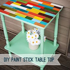paint stick table top
