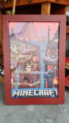 MINECRAFT custom frame for son's poster.