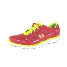 SKECHERS GRATIS-THRESHOLD PINK/YELLOW WOMENS SNEAKERS Size 7.5M