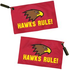 """Increase excitement while cheering on your favorite sports team with this rally flag! This bold, full color flag measures 12"""" x 19"""" and is made of 2-ply knitted polyester. It's finished with a grommet and black plastic handle designed to twirl the flag with ease.  Please note this product does not have a blockout liner which may lead to your logo being seen through on the other side slightly. From sporting events to fundraisers, this customized flag is sure to make a..."""