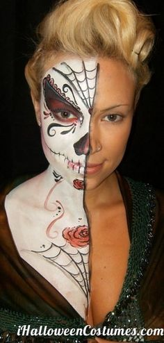 Halloween make up Dead Makeup, Hair Makeup, Fun Makeup, Creative Makeup, Makeup Ideas, Face Paint For Men, Halloween Make Up, Halloween Face Makeup, Halloween Ideas