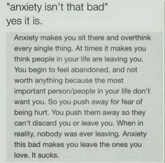 Anxiety isn't that bad