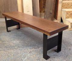 walnut slab bench. $1,600.00, via Etsy.