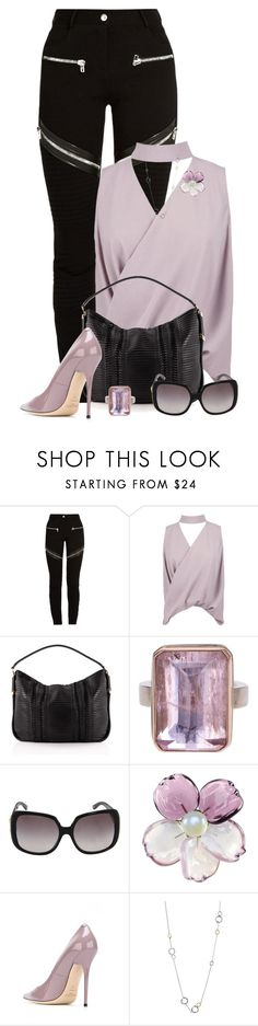 """Untitled #761"" by missyalexandra ❤ liked on Polyvore featuring Givenchy, Boohoo, Jimmy Choo, Jamie Joseph, Versace, Chanel and Links of London"