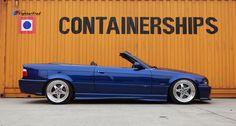 Fantastic blue BMW cabrio on BBS for Kerscher wheels - Autopins Bmw Alpina, Bmw E30, My Dream Car, Dream Cars, Culture Album, E36 Cabrio, Bmw Convertible, Bmw Classic Cars, Bmw 3 Series
