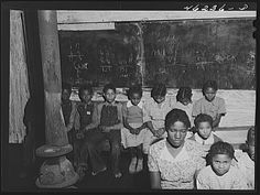 White Plains, Greene County, Georgia. The three-teacher colored school. Jack Delano October 1941