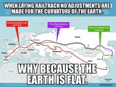 FLAT EARTH FUN Do the math... check the history.. ask railroad engineers. Don't just accept an internet meme. Railroad engineers never accounted for curvature. Historical engineers said that curvature was only school textbook . Something to think about.