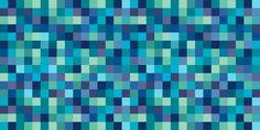 Quadrados Eskimo/Squares Eskimo #estampa #print #pattern #color #colorful #beautiful #cores #geometric #blue #azul #verde #green