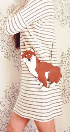 Macky the Shiba Inu Dog Cute Vintage Inspired Brown Vinyl by Cuore