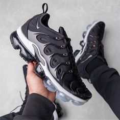 official photos 2b068 5002a Nike Air VaporMax Plus Black White - 924453 011 Males Sneakers Men s  Running Shoes