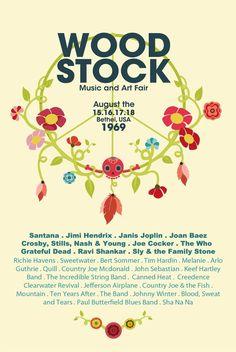 Woodstock #festival #affiche #woodstock                                                                                                                                                                                 Plus