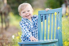 Jeneanne Ericsson Photography - Blue kids chair