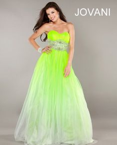 prom dresses 2013   Elegant Lime Green Prom Dresses Jovani 2013