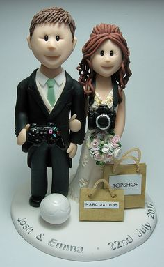 Feats Of Clay Wedding Cake Toppers