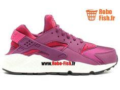 quality design 06cb5 d69ff Nike Air Huarache Run Print - Chaussure Nike Running Pas Cher Pour Homme  Murier Fuchsia Sport Noir 725076-500