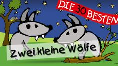 Zwei kleine Wölfe - Die besten Kindergartenlieder || Kinderlieder