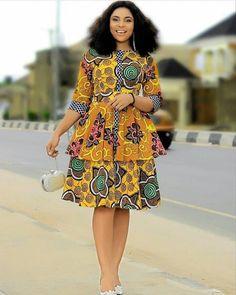 Amazing ankara gowns for ladies - DarlingNaija African Fashion Ankara, African Print Fashion, Africa Fashion, African Dresses For Women, African Print Dresses, African Attire, Trendy Ankara Styles, Ankara Gowns, African Traditional Dresses