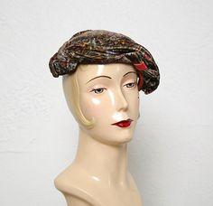 Vintage Paisley Velveteen Hat