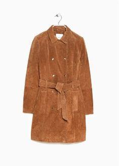 Abrigo piel pecarí - Mujer | MANGO