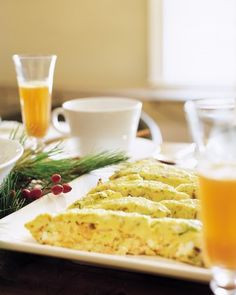 HOLIDAY BRUNCH RECIPES -- (shown in photo -- Smoked Salmon Frittata )