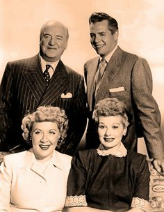 Lucille Ball, Desi Arnaz, Vivian Vance and William Frawley