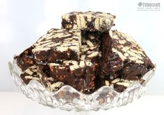 See how to make this no bake chocolate tiffin