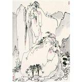 Wu Guanzhong - PLACID MOUNTAIN VILLAGE, 1987, ink... on MutualArt.com