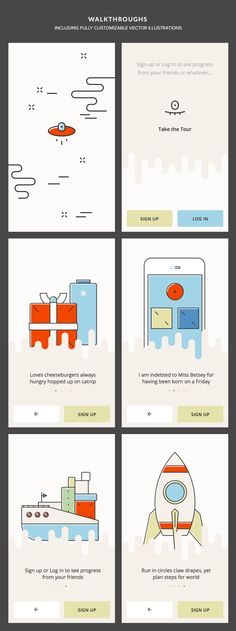 Not sure what I'd use this UI kit for, but I like the   illustration style.