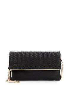 Madison Woven Faux Leather Clutch
